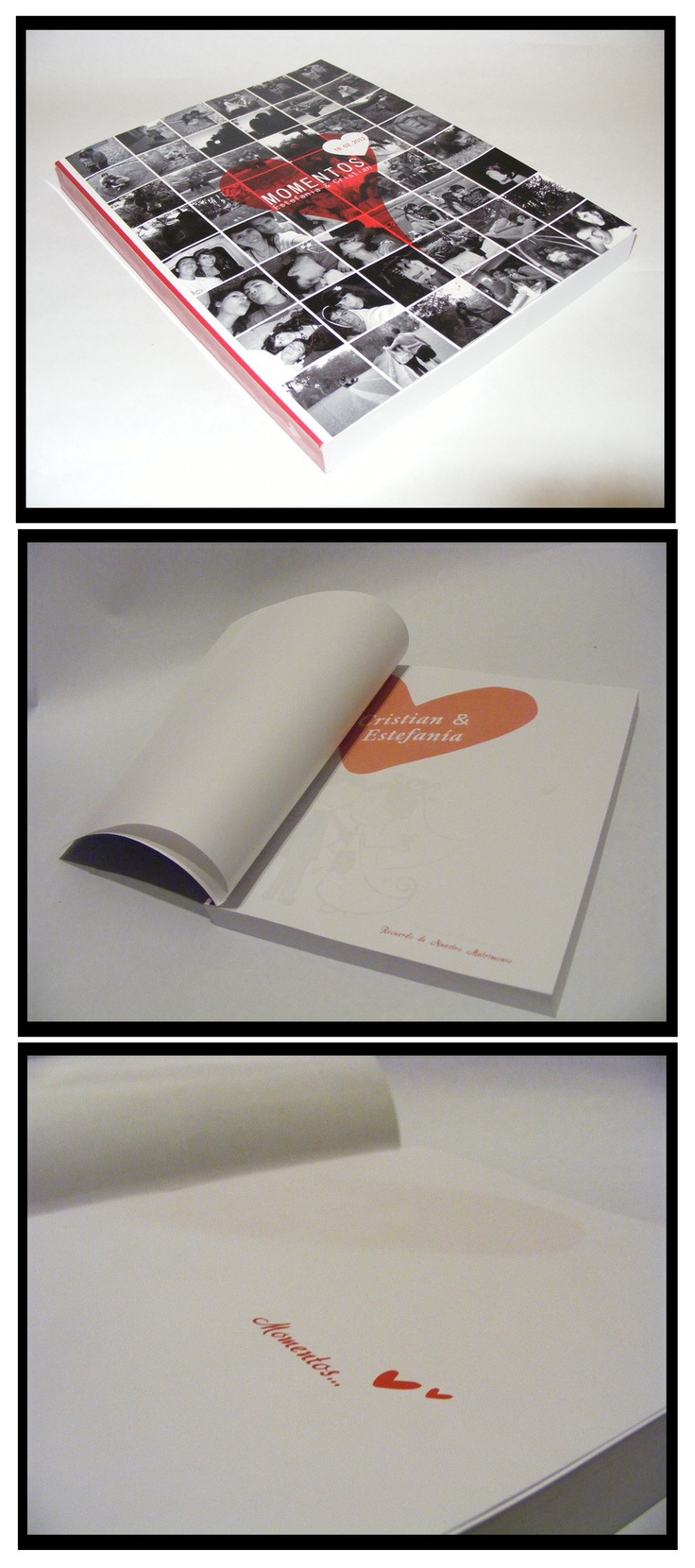 Book design for wedding souvenirs made ​​by me.