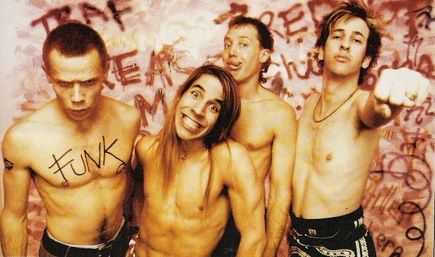 Red Hot Chili Peppers original line-up - Flea, Anthony Kiedis, Jack Irons and Hillel Slovak