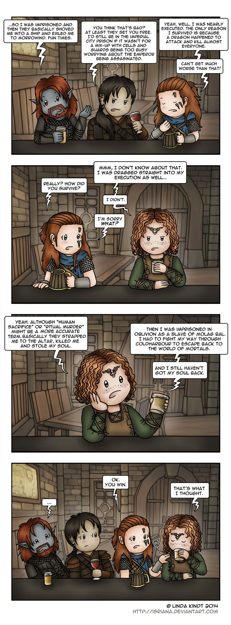 TESO: Keeps Getting Worse by Isriana on DeviantArt - Morrowind, Oblivion, Skyrim and now Elder Scrolls Online. XD