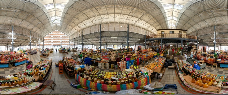 Marché couvert de Fort-de-France. Martinique. Fort de France covered market. Martinique island French west indies.