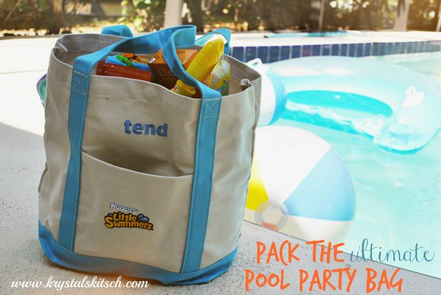 Host a Backyard Pool Party With Huggies Little Swimmers // pack the ultimate pool party bag #littleswimmers