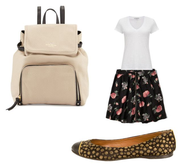 """""""First day of school outfit"""" by audreythebatontwirler on Polyvore featuring Kate Spade, Abercrombie & Fitch, James Perse and Fendi"""