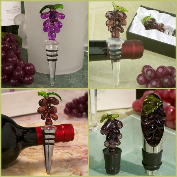 Murano Grape Bottle Stopper from HotRef.com