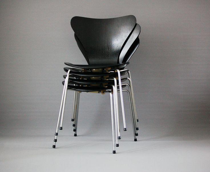 4 Model 3107 Chairs By Arne Jacobsen For Fritz Hansen   vinterior.co