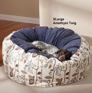 Dog Beds: Drs. Foster and Smith Warm & Cuddly Deluxe Slumber Ball Dog Bed