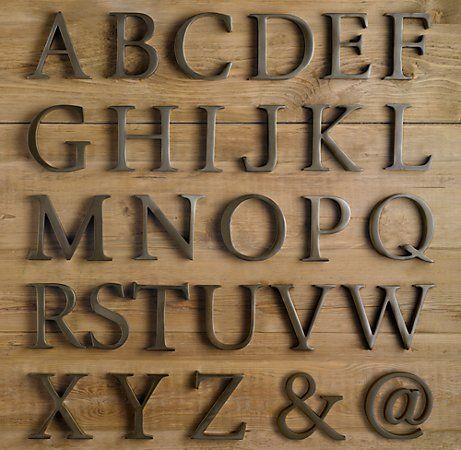 Dwelling Room Interiors: Aged Metal Letters Tutorial