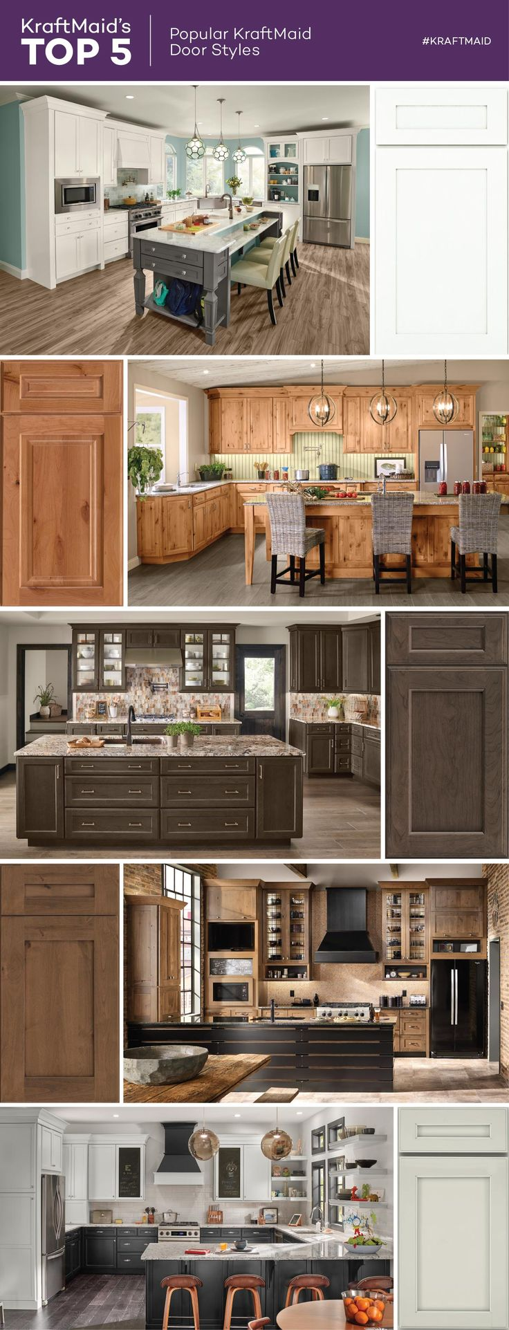 ... The Most Popular KraftMaid® Door Styles. Not Only Are Shaker Cabinet  Doors Timeless In Style, But They Also Can Be Modified With Handles Or  Hardware To ...