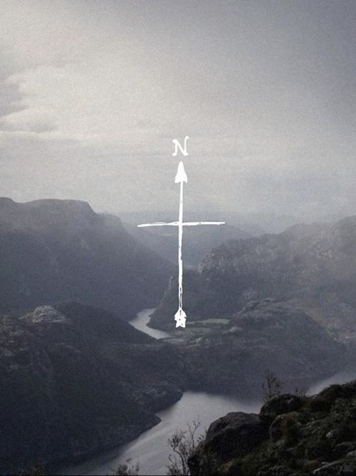 I want the cross, but both to be arrows. To symbolize that God will lead me in whatever direction I'm meant to go.