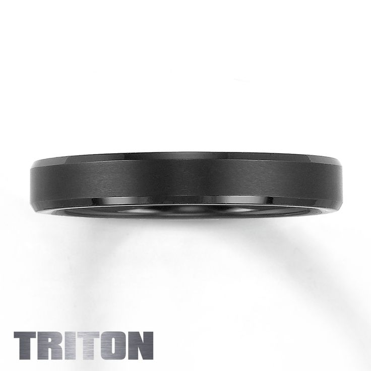 $149.99 Men's Wedding Band Black Tungsten Carbide - I'm sure my hubby would appreciate that it isn't ostentatious and the sleek/slim design
