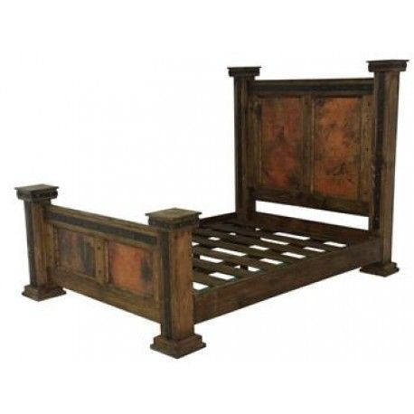 Finca Bed With Copper Panels - King