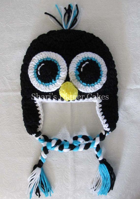 Adult Size Crochet Hats - Penguin - Owl - Snowman