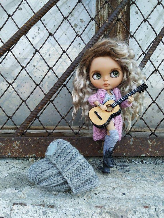SOLD! Blythe TBL ooak custom doll with mohair weft hair