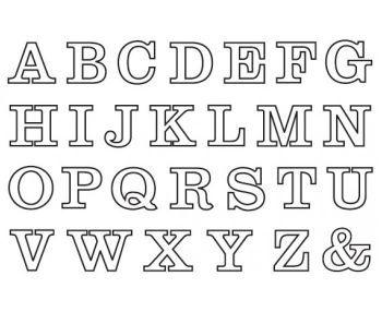 Buchstaben Zum Ausdrucken