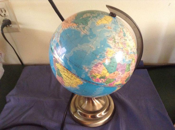 Best 25 world globe map ideas on pinterest globes paint world globe map light lamp gumiabroncs Images