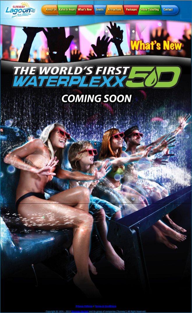 Coming soon ... the world's first Waterplexx 5D @ Sunway Lagoon