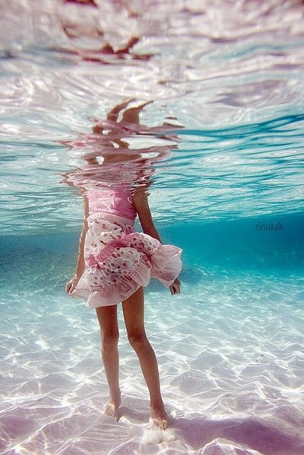 Let's just walk to shore. Don't worry, Beautiful, your dress will dry. :-)