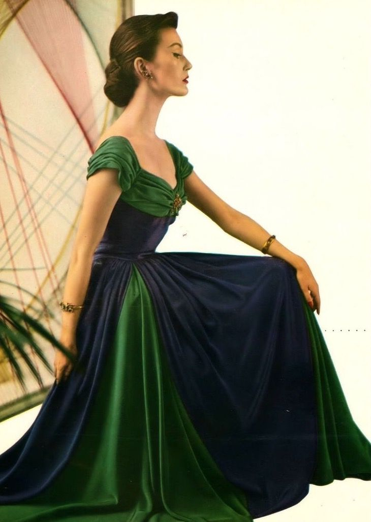 Mary Jane Russell, Harper's Bazaar November 1950 | flickr skorver1