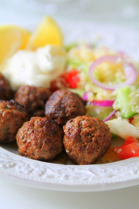 Kryddiga köttbullar med couscous-sallad - Jennys Matblogg