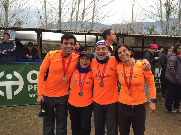 Muy felices como equipo por los 4 podiums que logramos en nuestra primera participación en la Vuelta a la Laguna de Aculeo