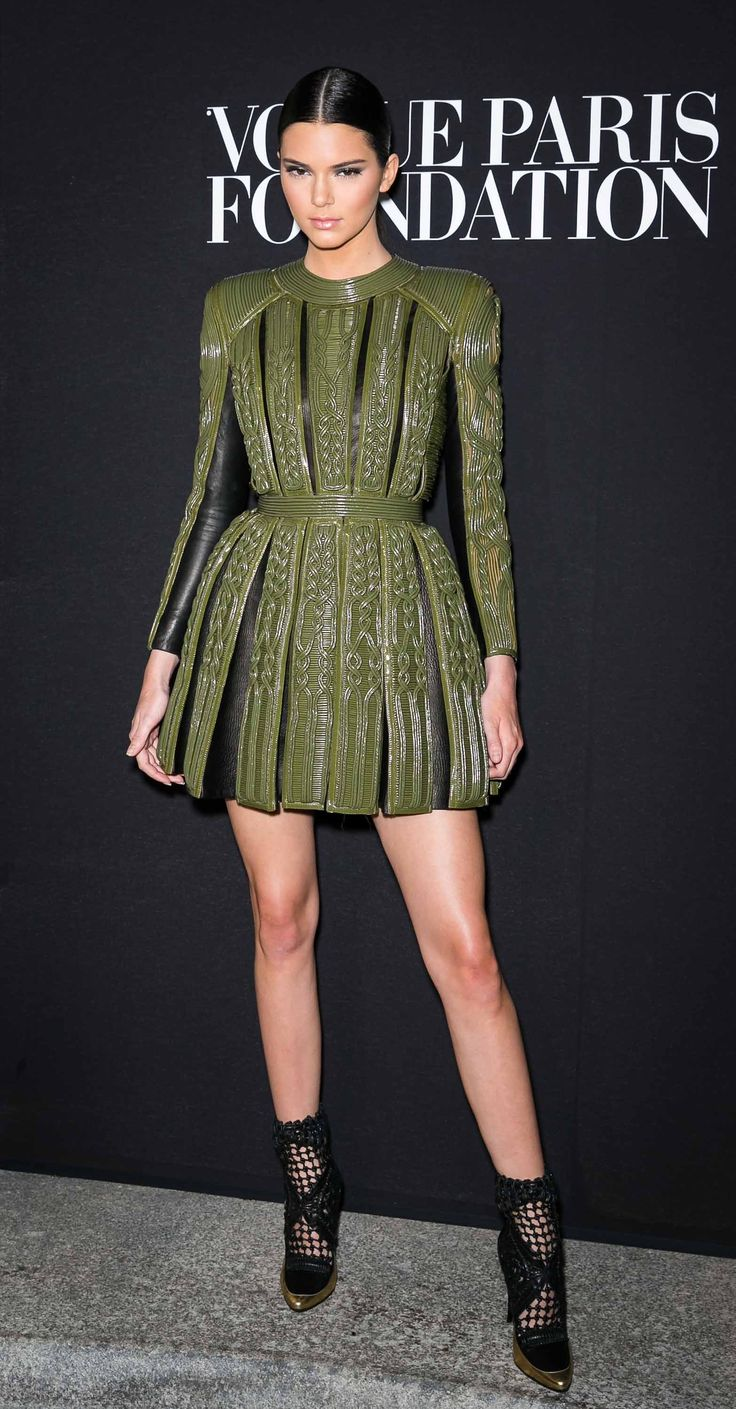 Kendall Jenner at the Vogue Paris Foundation gala 2014 in Balmain.