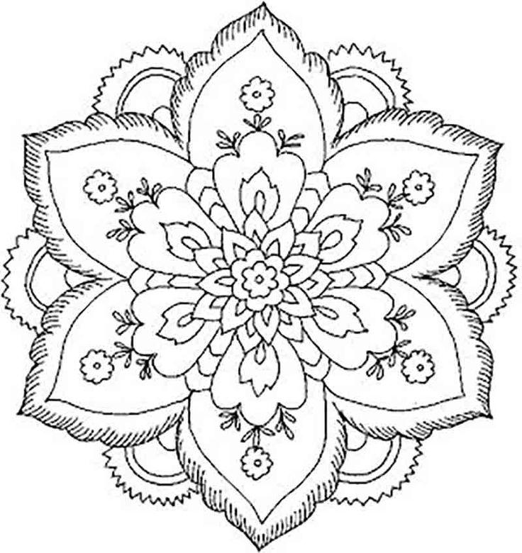 Lotus Flower Mandala Drawing Images Abstract Coloring