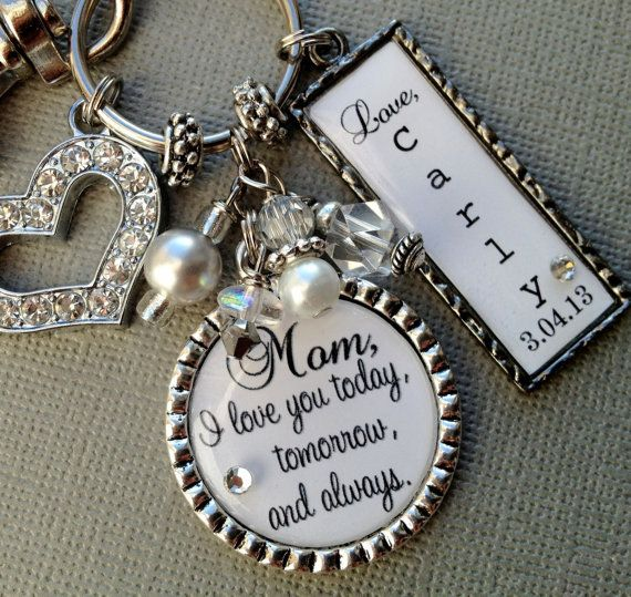 MOTHER of the BRIDE gift PERSONALIZED  love you to the by buttonit, $32.00