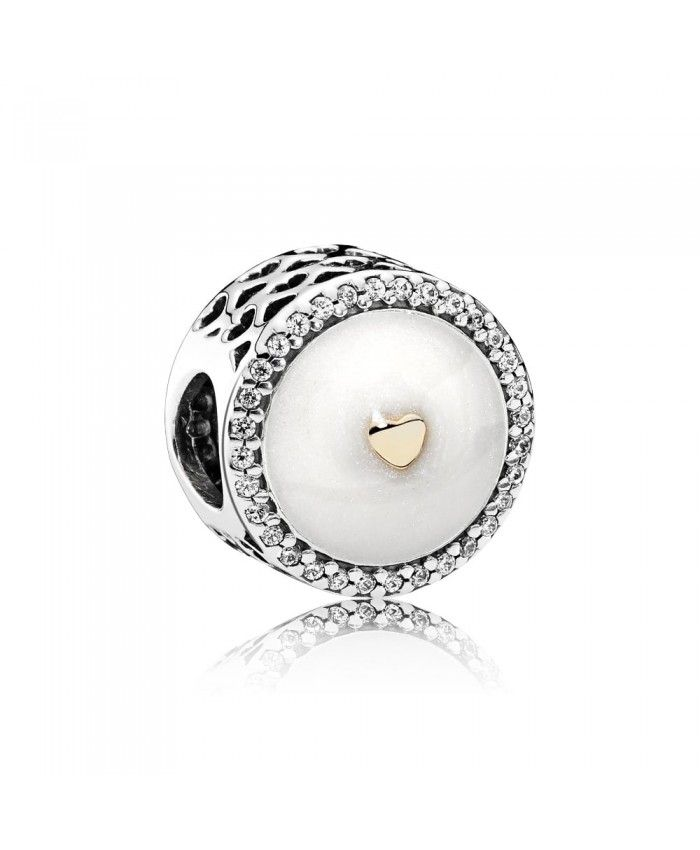 PANDORA Precious Heart Charm 792073EN23 Mother's Day gives mother the best gift.