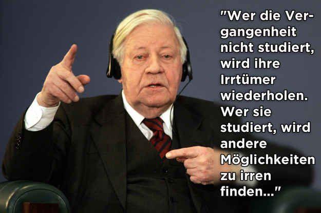 19 Sprüche von Helmut Schmidt, die unvergessen bleiben