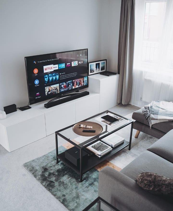 Minimal Setups On Instagram Living Room Entertainment Setup By