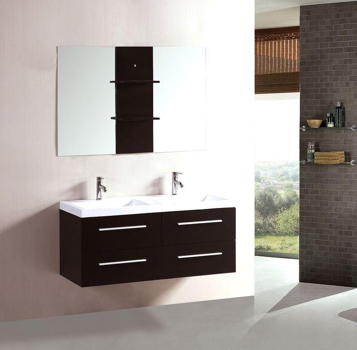 Gallery One  Double Floating Bathroom Vanity Set with Mirror