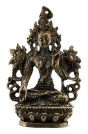 Amulette tibetaineTara Verte Green-Boddhisattva-active-statuette-58mm