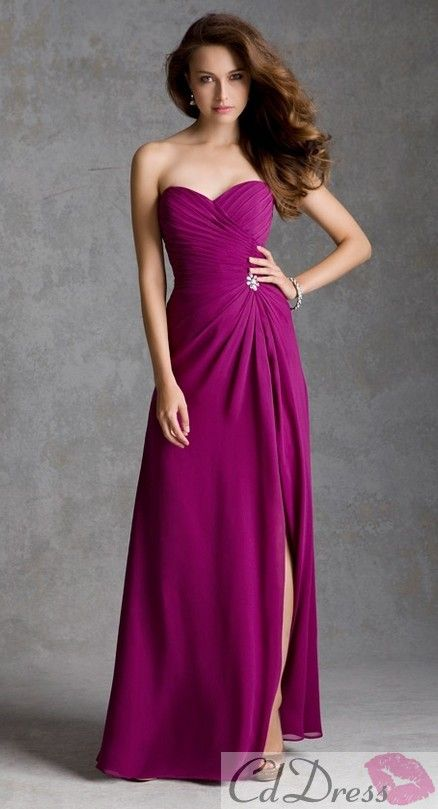 A line Sweetheart Chiffon Bridesmaid Dresses - Bridesmaid Dresses - Wedding Party Dresses - CDdress.com