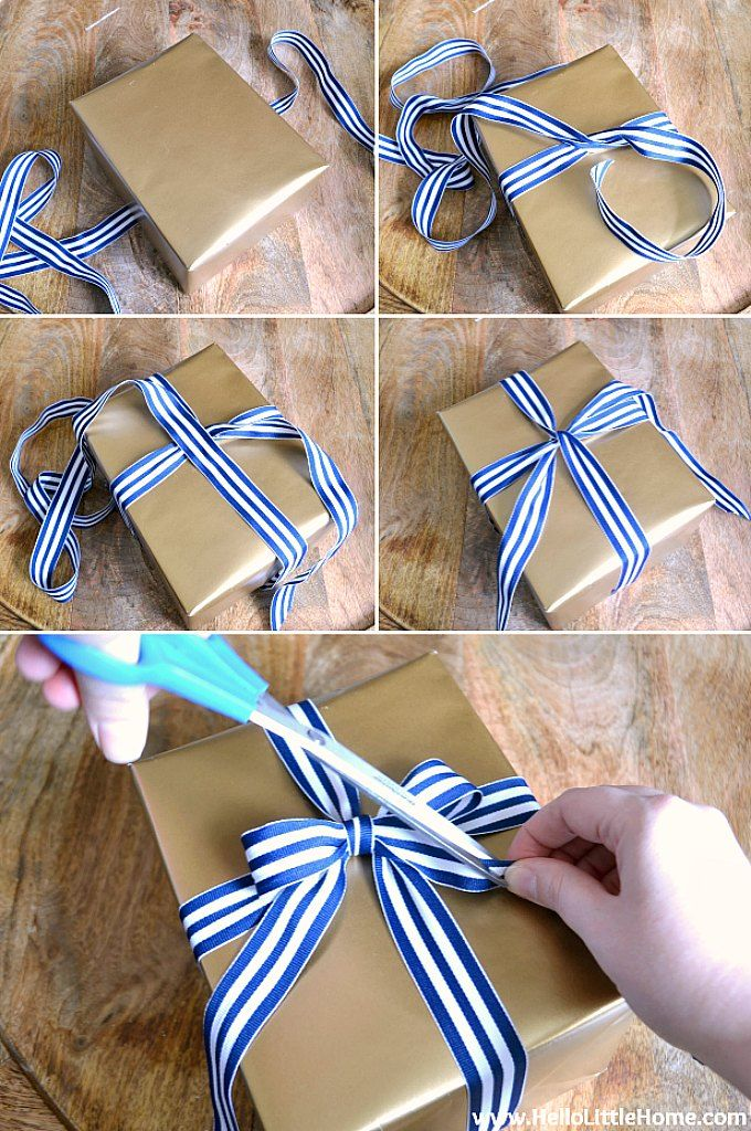 How To Tie A Perfect Bow Simple Gift Wrapping Ribbon On Presents Bows For Presents