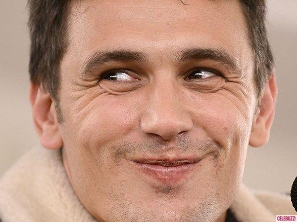 James Franco mischievious smile