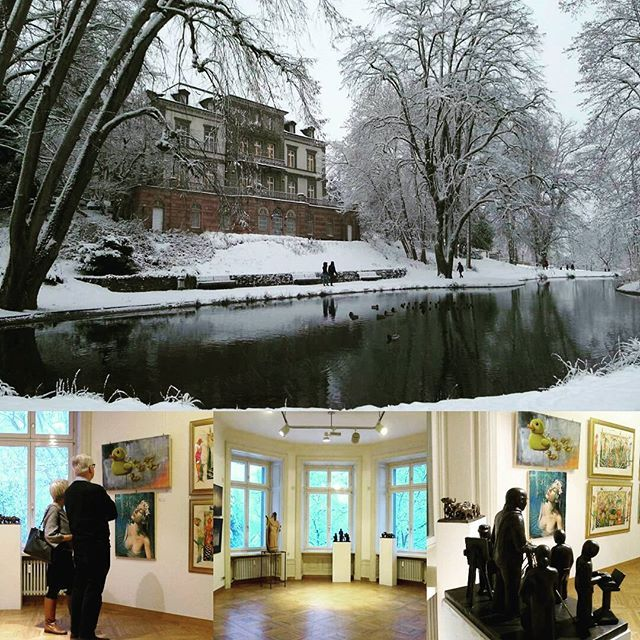 Grand Salon 2017 I'm honored to be part of this great group show in Germany . . . When the location is so beautiful, other words are usefull. . . #grandsalon #badsäckingen #art_collective #art_collective_mag #oilpainting #arte #stefanogentile #contemporaryart #villaberberich #park #snow #enchanted #beautiful #dream #art_chitecture #blackforest #picoftheday #instaart #instalike #huffpost_arts #picart #thecatcherintherye
