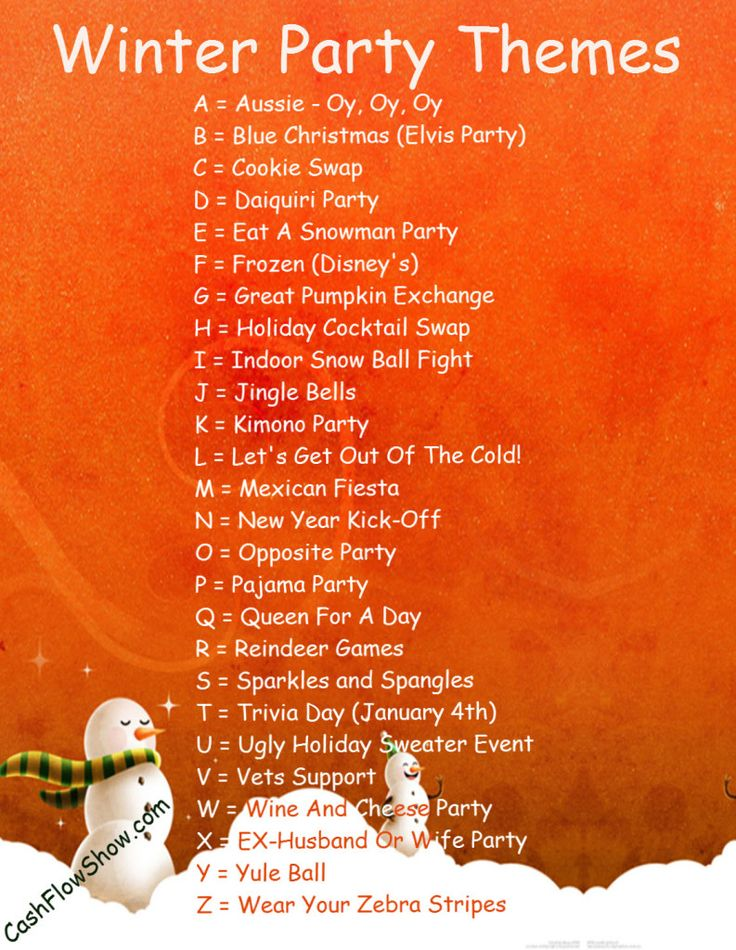 A Sales Party Theme Will Make Your Shows More Interesting Heres Some Winter Themes To Try