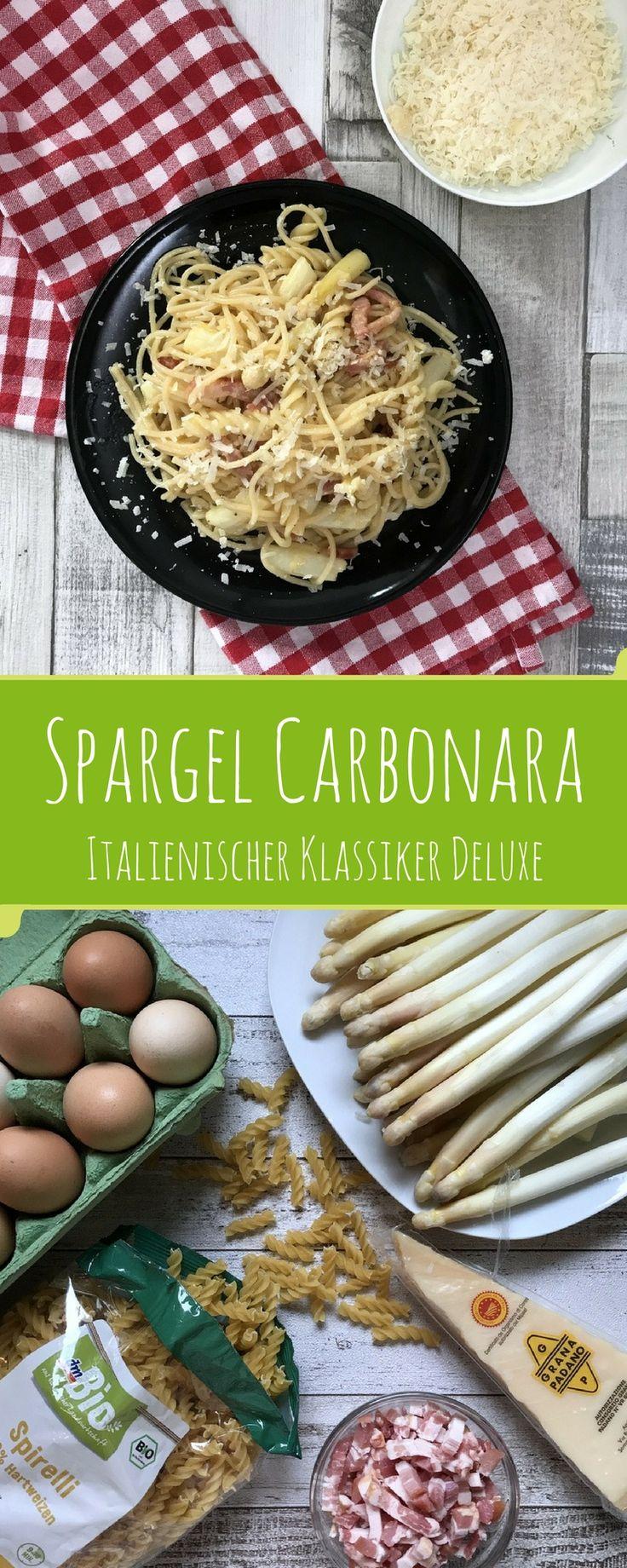 Der italienische Klassiker in der Deluxe-Version mit Spargel. Ein Gaumenschmaus für alle Fans von Spargel, Nudeln und Speck!
