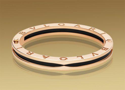 bulgari bzero1 bracelet in 18kt pink gold with black ceramic br856088