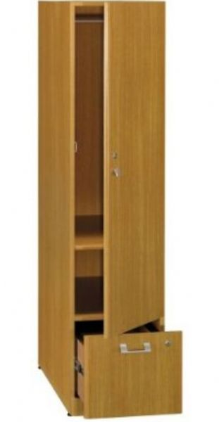 bush qt288fmc quantum modern cherry tall storage tower coat rod in the cabinet 1