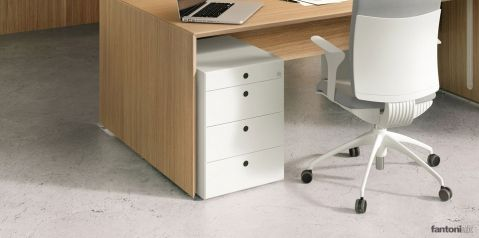 quaranta5 white under desk drawers
