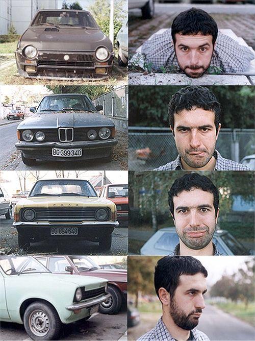 vladimir nikolic: Backseatdriver Cars, Nikolic S Autoportraits, Inanimate Faces, Cars Portraits, Car Faces, Nice, Vladimir Nikolic, Artist Vladimir