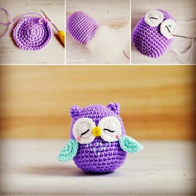 Use the URL to get the free pattern for this amigurumi crochet owl…