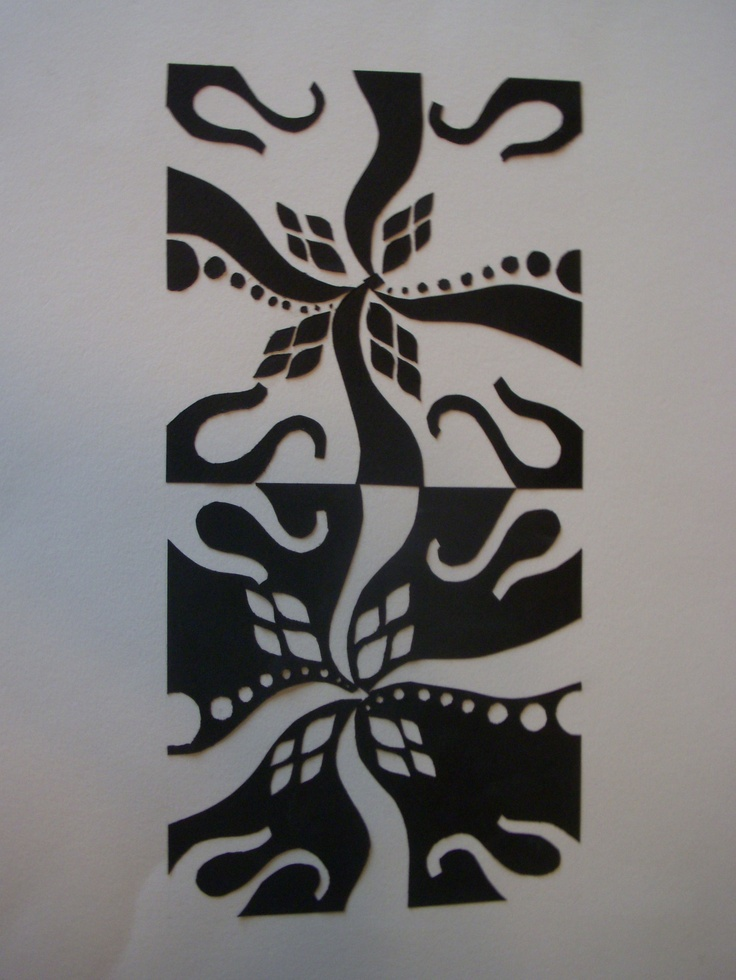 mirror image 2d design paper/carved