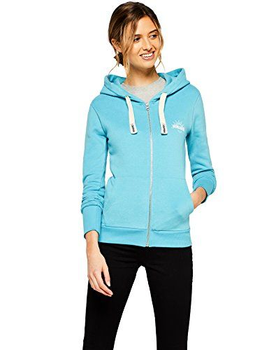 aqua taille Femme Bleu À Fabricant Sweat Shirt 38 Capuche Zippé Hikaro qfaSnx