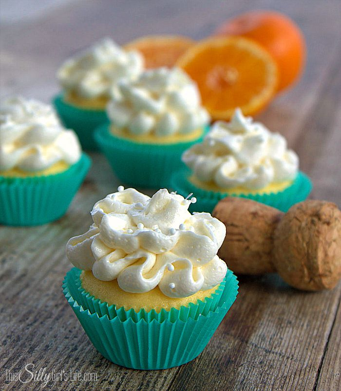 Mini Mimosa Cupcakes | Recipe | Mimosas, Buttercream Frosting and ...
