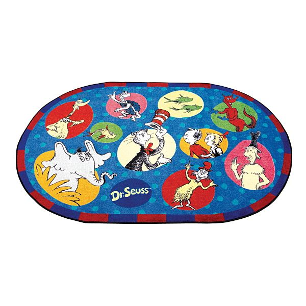 I want this for my Dr. Seuss themed classroom.  Demco.com -  Dr. Seuss™ Book Characters Carpets
