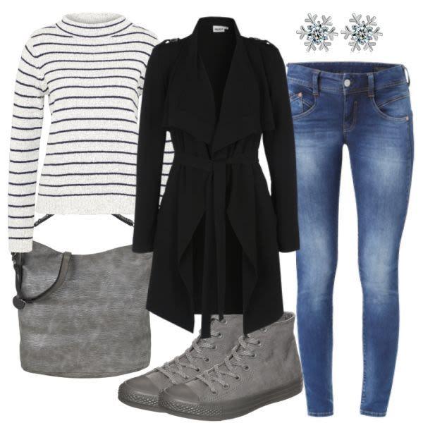 AutumnCityStyle Damen Outfit Komplettes Freizeit Outfit