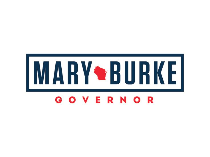 Mary Burke for Governor of Wisconsin logo by Ben Ostrower