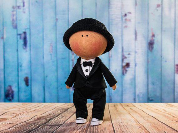 Doll boy Michael. Tilda doll. Textile doll. Handmade. by OwlsUa