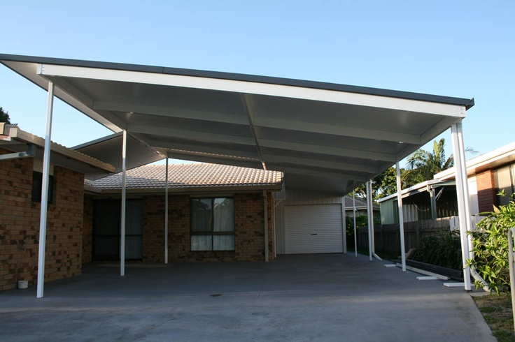 Create more usable outdoor space with a Flyover roof pergola.  #patiodesign